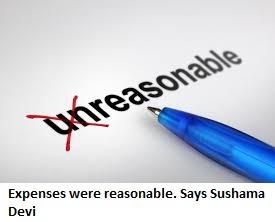 9-expenses-were-reasonable-says-sushama-devi
